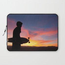 Longboard Silhouette Laptop Sleeve
