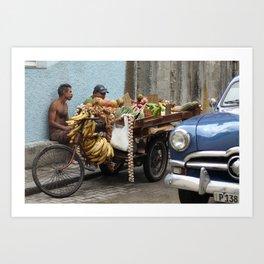 Cuban Streetlife - Fruit Art Print