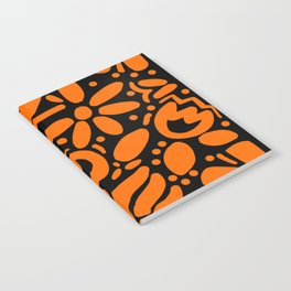 Beautiful Orange Otomi Notebook