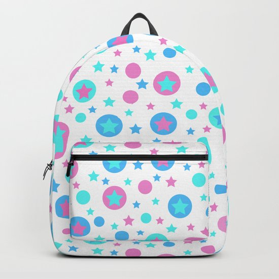 Geometric circles and stars seamless pattern Backpack