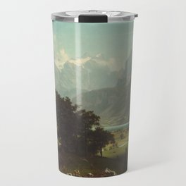 Lake Lucerne by Albert Bierstadt Travel Mug