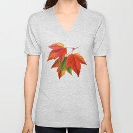 Maple Leaves Spiral Unisex V-Neck