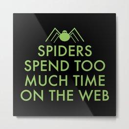 Time On The Web Metal Print