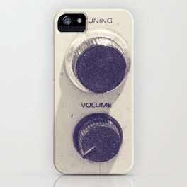 "on the radio... ""ANALOG zine""  iPhone Case"