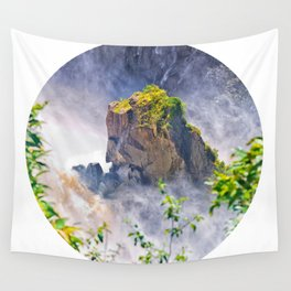 Rock in the falls Wall Tapestry