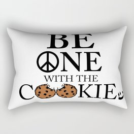 Be One With the Cookie Rectangular Pillow