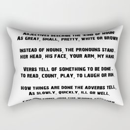 Parts of Speech Rhyme Rectangular Pillow