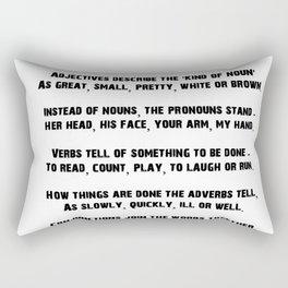Parts of Speech Rhyme Rectangular Pillow