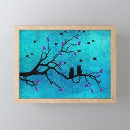 Lovecats - Together forever Framed Mini Art Print