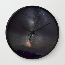 Watercolor Nightscape, Trail Ridge Road 04, RMNP, Colorado Wall Clock