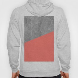 Living Coral on Concrete Geometrical Hoody
