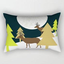 Deer on a hill Rectangular Pillow
