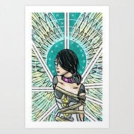 Borderlands Tarot: The 8 of Swords Art Print