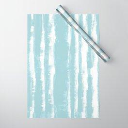 Shibori Stripe Seafoam Wrapping Paper