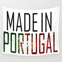 portugal Wall Tapestries featuring Made In Portugal by VirgoSpice