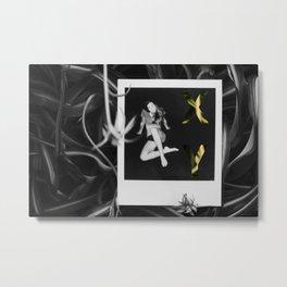 XY girl on polaroid Metal Print
