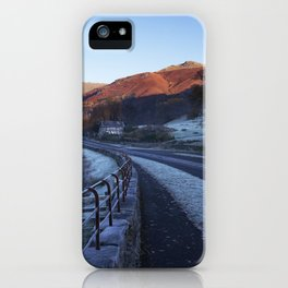 Cottage at Grasmere with a heavy frost at sunrise. Lake District, Cumbria, UK iPhone Case