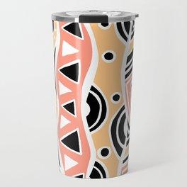 Four Waves - Black Orange Yellow Travel Mug