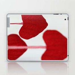 christmas decoration and valentine heart shape Laptop & iPad Skin