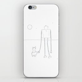A Girl & Her Robot iPhone Skin
