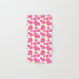 12 Sketched Mini Flowers Hand & Bath Towel