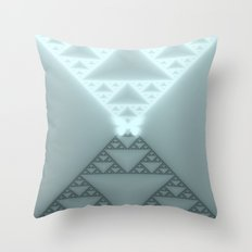 Triangles Glow Throw Pillow