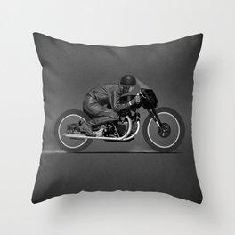Black Lightning Works Racing Throw Pillow