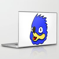sonic Laptop & iPad Skins featuring fake sonic by crapAdoodle