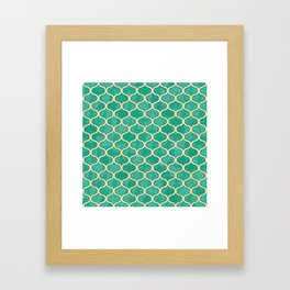 Watercolor Lovely Pattern VVV Framed Art Print