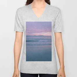 Pink Sunrise Unisex V-Neck