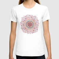 bohemian T-shirts featuring Sunflower Mandala by Janet Broxon