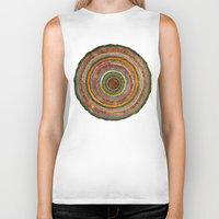 tree rings Biker Tanks featuring tree rings by Asja Boros