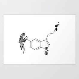 Serotonin Semi Colon Art Print