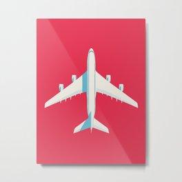 A380 Super Jumbo Jet Airliner - Crimson Metal Print