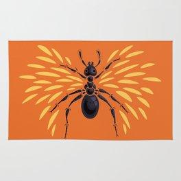 Winged Ant Fiery Orange Rug