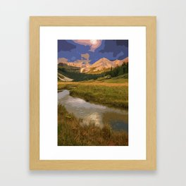 Glacier National Park in Autumn Framed Art Print