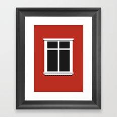 Reykjavik Window Framed Art Print
