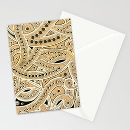 Golden Ribbons Stationery Cards