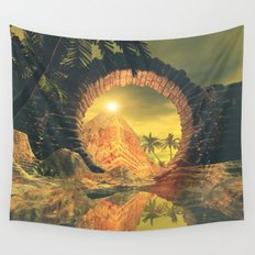 The temlpe Wall Tapestry