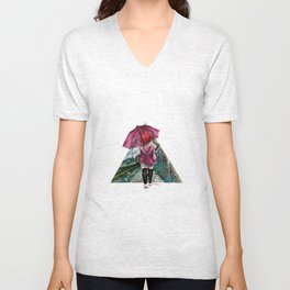 out in the rain Unisex V-Neck
