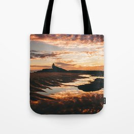 Reflective Water Landscape Cloudy Sky Sunlight After Rain Tote Bag