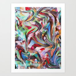 decollage Art Print