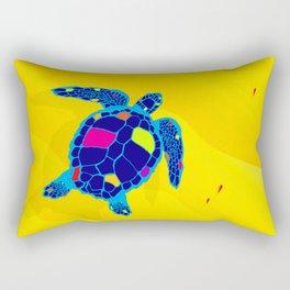Paper Craft Sea Turtle Rectangular Pillow