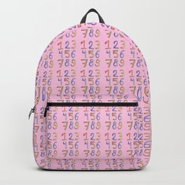 number 2- count,math,arithmetic,calculation,digit,numerical,child,school Backpack