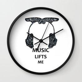 Music Lifts me Wall Clock