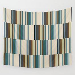 vertical broken stripe-teal Wall Tapestry