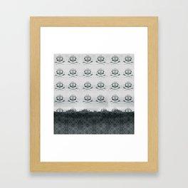 Mountain Skulls: Slight Blue Framed Art Print
