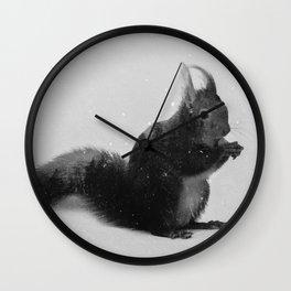 Squirrel (B&W) Wall Clock