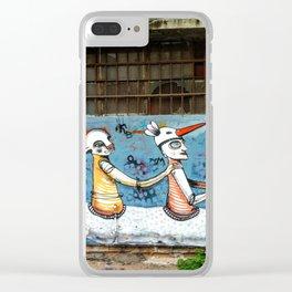 Tel Aviv Street Art / Klone / Swan Clear iPhone Case