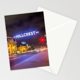 Hillcrest (San Diego) Sign - SD Signs Series #3 Stationery Cards